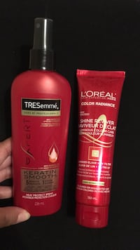 Tresemmé keratin smooth heat protectant spray and L'Oréal leave in conditioner/shine reviver Brampton, L6T 3X3