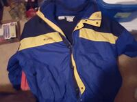 Blue and yellow large Columbia winter jacket Cumming, 50061