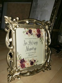 In Loving Memory wedding memorial sign with frame Deer Park