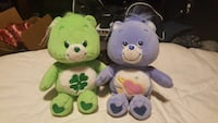 brown and green care bear plush toy