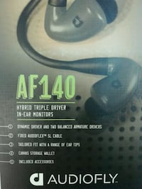 Audiofly AF140 - Hybrid Triple Driver In-Ear Headphones -Fader Gray- BRAND NEW SEALED Toronto, M9V 2X6