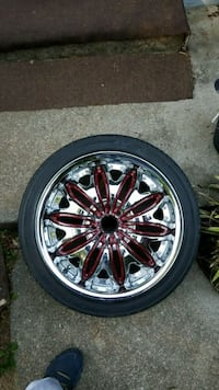 18' Chrome wheels w/ tires Knoxville