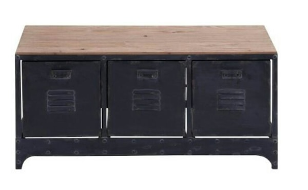 black wooden cabinet with drawer