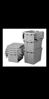 Gray stackable totes for$3 or 20 for $50 Oklahoma City, 73139