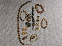 brown and silver beaded necklace Hinckley, 44233