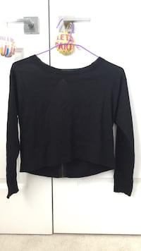Black backless sweater Vancouver, V5K 4J9