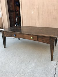 Dark stained coffee table, fair condition Fullerton, 92831
