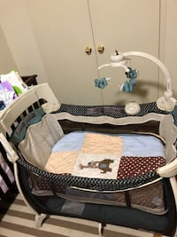Playpen with Diaper storage and mobile Toronto, M3A 1V6