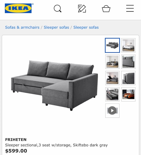 Enjoyable Ikea Friheten Sleeper Sofa Bralicious Painted Fabric Chair Ideas Braliciousco
