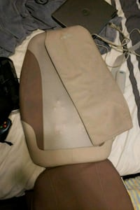 brown Homedics leather textile