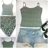 Crop top estampado leopardo