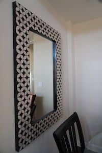 square black and gray framed wall mirror Los Angeles, 90049
