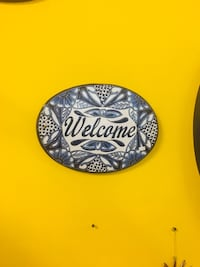 Welcome ceramic plate