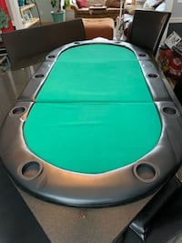 "84""x 42"" Mobile Poker Table in Excellent Condition"