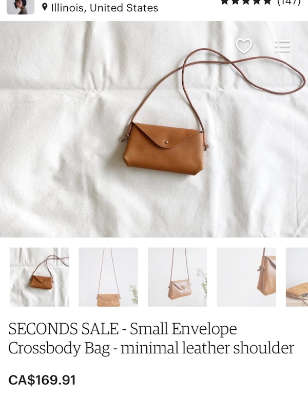 Handcrafted natural tan leather crossbody purse. a1dcca44-387d-4f90-91d8-2e77c71aaeb6