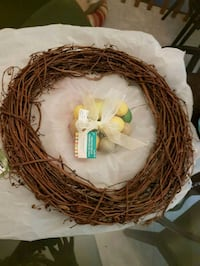 LARGE GRAPEVINE WREATH&EASTER EGGS Newmarket, L3Y 3R4
