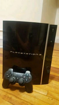 black Sony PS3 super slim console with controller Minneapolis, 55421