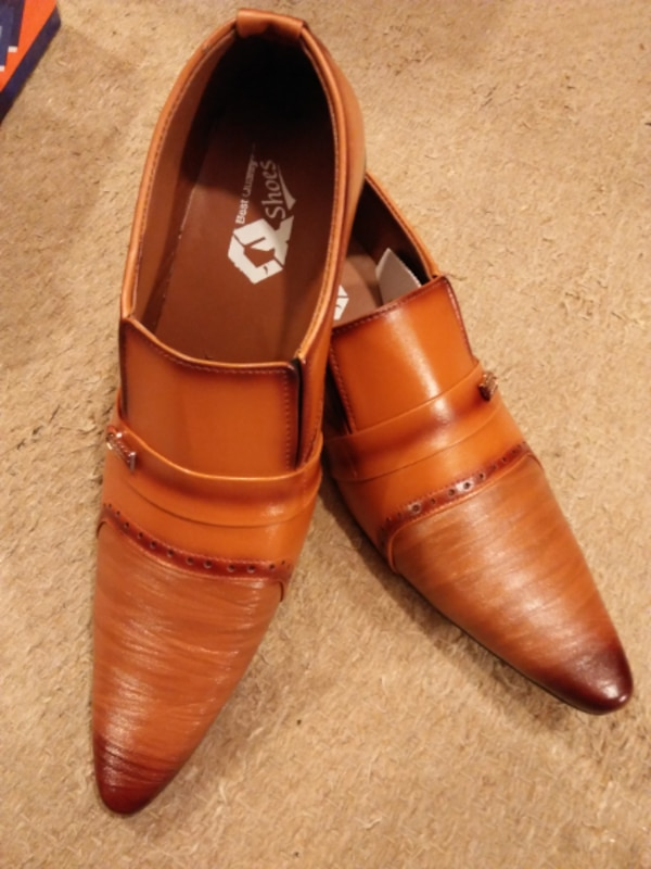 Mustard  Leather Formal Shoes
