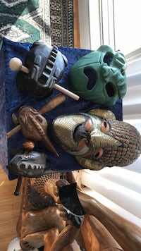 (2) masks and (3) singing frogs