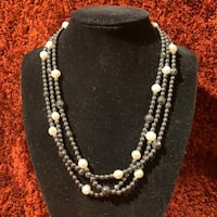 3 strand hematite pearl necklace Ashburn, 20147