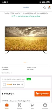 4K SMART 165 İNC  Beykent