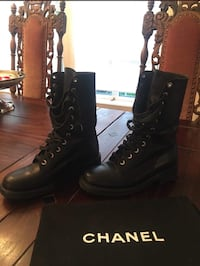 Chanel lace-up boots Oslo, 0355