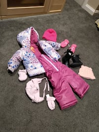 NEW/USED Baby girl snowsuit lot