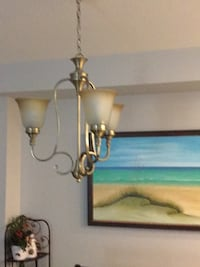 gold and white pendant lamp Mississauga, L5M 6P8