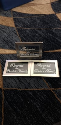 Wedding Reserved Signs