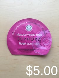 Sephora Rose Face Mask Ultra Hydrating and Brightening Skin Care Beauty Winnipeg, R2P 2Z5