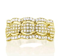 Goldplated Sterling Silver Micropave Cubic Zirconi Wichita, 67213