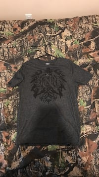 gray and black crew-neck t-shirt Russell, 41101