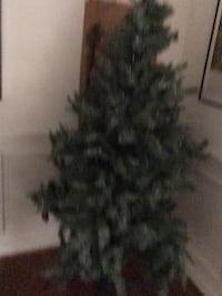 Two Christmas trees, decorations.lights garland, tree skirts tree stand and more $100 Fairfax, 22033