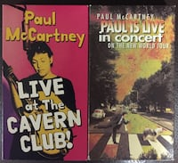 Paul McCartney Live at Cavern Club & Live In Concert VHS Lebanon