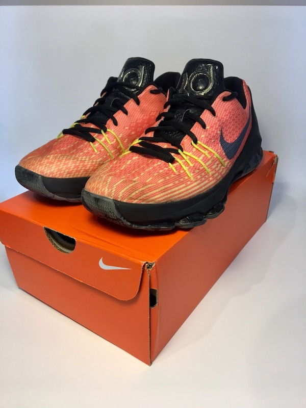 buy online 945de 13ce0 Used Nike KD Orange black hunts hill sunrise men s basketball shoes for  sale in Agawam - letgo