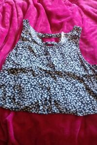 Garage crop top with cut out back