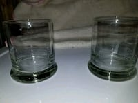 Set of 36 clear votive candle holders