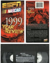 vhs 1999 NASCAR Year in Review Thrills of NASCAR