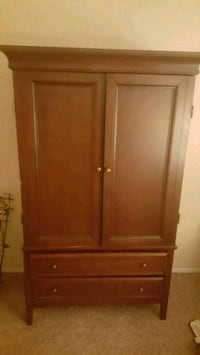 brown wooden Armoire with 2 drawer Hesperia, 92345