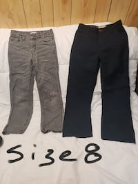 two black-and-gray jeans Ontario, K1B 4Y7