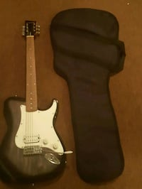 black and white stratocaster electric guitar Ajax, L1S 3W2