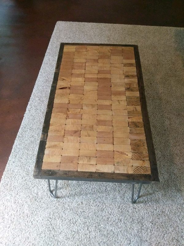 End Grain Coffee Table.Reclaimed End Grain Wood Coffee Table Tv Stand