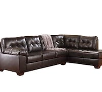 black leather sectional couch with throw pillows Montoursville, 17754
