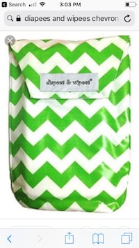 Diapees and wipees chevron case Moody, 35094