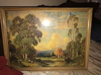 Brown wooden framed painting of trees Denton, 76209