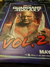 Drax of guardians of the galaxy bus shelter poster