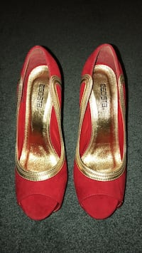 Red and gold heels from egoista  Washington, 20015