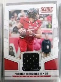 Mahomes rookie patch card