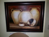 brown wooden framed painting of white flower South Hackensack, 07606