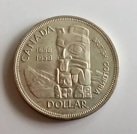 1958 Antique British Columbia Canadian $1 80% Silver  Fort McMurray, T9J 1G5